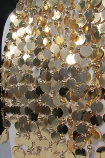Other Women Gold Metal Ball Multi Circles Strands Chains 20 Long Fashion Necklace Image 4