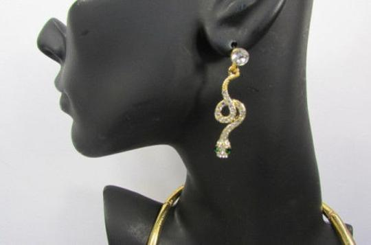 Other Fashion Women Necklace Silver Earring Set Silver Metal Snake Short Gold Image 2