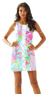 Lilly Pulitzer short dress Flamingo Pink Don't Give a Cluck on Tradesy