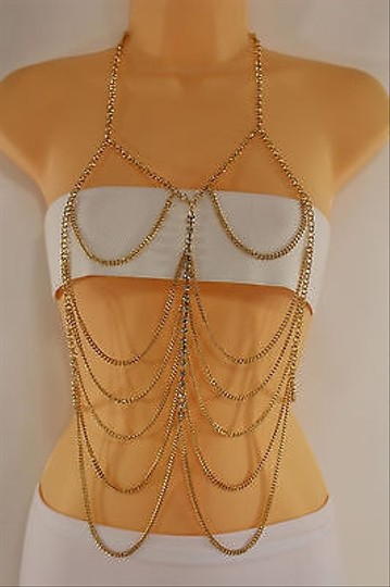 Other Women Front Gold Body Chain Necklace Fashion Jewelry Pool Beach Bikini Party