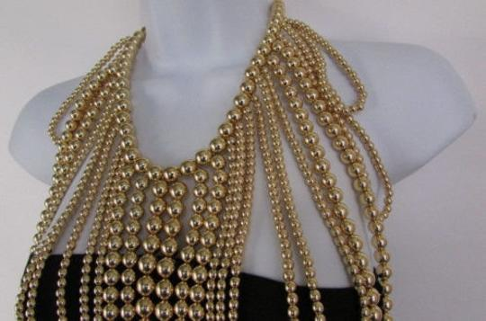 Other Women Gold Multi Ball Beads 30 Long Unique Statement Fashion Necklace Image 9