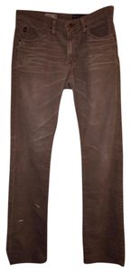 AG Adriano Goldschmied Mens Corduroy Slim Pants Straight Leg Jeans-Distressed