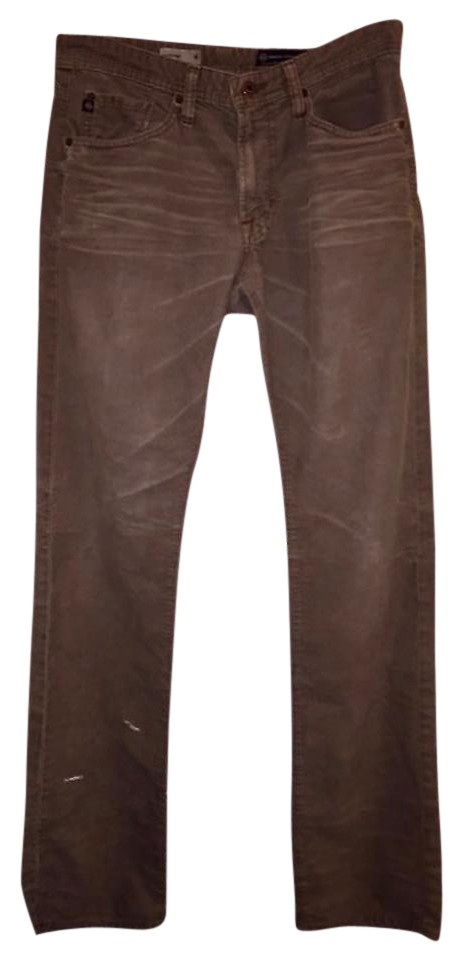 6b49fccf AG Adriano Goldschmied Brown/Tan Distressed Men's