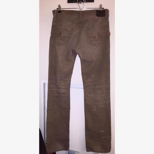 AG Adriano Goldschmied Mens Corduroy Pants Straight Leg Jeans-Distressed