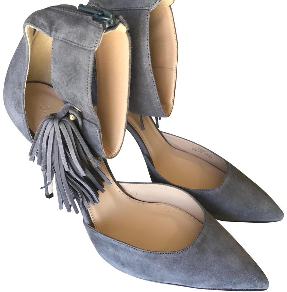 J.Crew Gray Roxie Roxie Gray Ankle-cuff Tassel Pumps f297e2