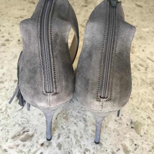 J.Crew Free Shipping Size 9.5 Leather And Suede Gray Pumps