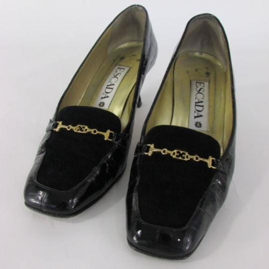 Preload https://item4.tradesy.com/images/escada-women-low-heel-shoes-black-suede-top-leather-crocodile-stamp-25-b-1925603-0-0.jpg?width=440&height=440
