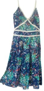 Carolina Herrera short dress Blue Floral Summer on Tradesy