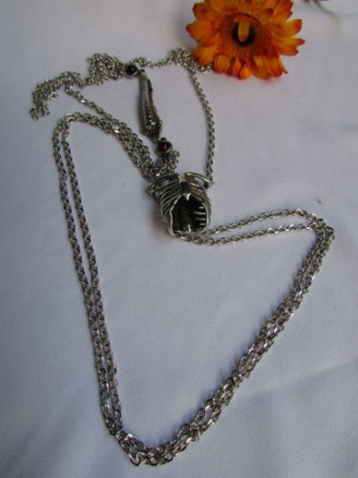 Other Women Silver Metal Unique Fashion Anatomy Body Parts Chains Spine Rib Cage