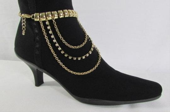 Other Women Trendy Fashion One Boot Shoe Single Gold Strap Chain Anklet Styles