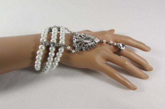 Other Women Imitation Pearl Bead Elastic Slave Bracelet Fashion Hand Chain Gatsby