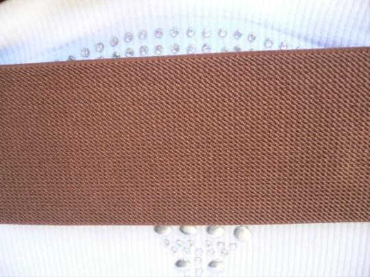 Other Women Wide Brown Faux Leather Belt Crocodile Stamp Metal Buckle 25-35 Xs-m