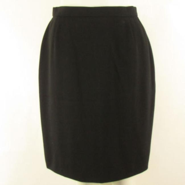 Escada Women Trendy Wool Classic Fashion Pencil Straight Lines Skirt Blacks
