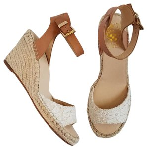Vince Camuto Tagger Wedge Cream and Tan Wedges