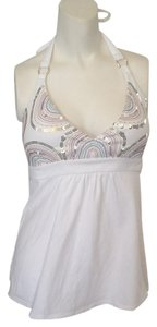 Victoria's Secret Bra Brown Halter Sequin White Halter Top