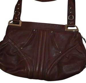 B Makowsky Leather Tote in Brown