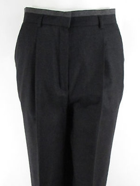 Escada Women Dark Wool Winter Classic Plaited Dress Trousers 36 Pants