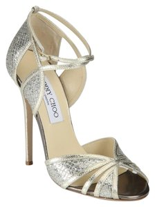 Jimmy Choo Fitch Glitter Champagne Pumps
