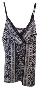 White House | Black Market Knit Camisole Knit Tank Studded Top Black and white