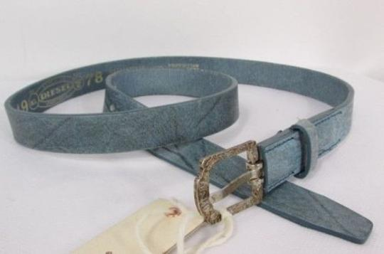Diesel Diesel Casual Women Light Blue Genuine Leather Fashion Belt Fit 80 90 Cm
