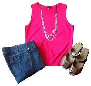 Ann Taylor Top Hot Pink