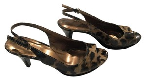 Nine West brown leopard Wedges