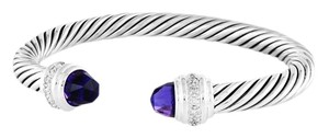 David Yurman Cable Classics Bracelet with Amethyst and Diamonds 7mm (Medium)