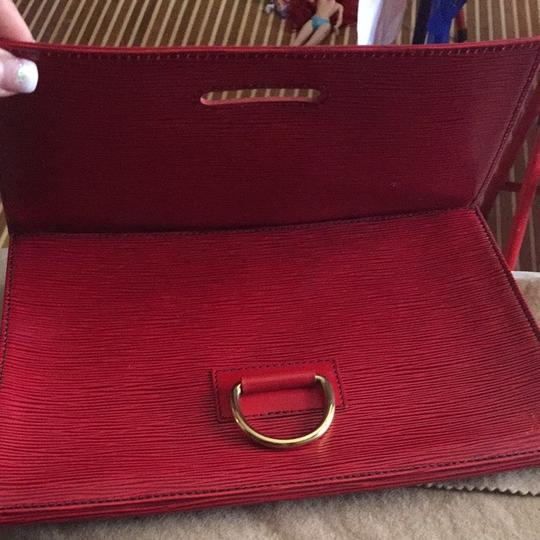 Louis Vuitton Red , Gold Hard Wear Clutch