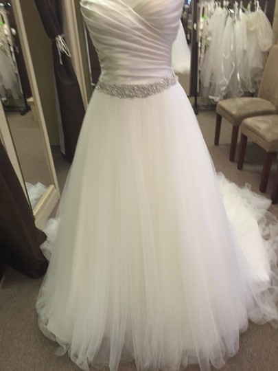 Winnie Couture Cream Pearl Jeanette Wedding Dress Size 8 (M)