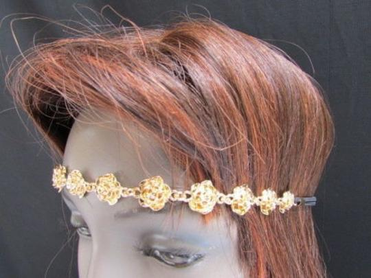 Other Women Gold Flower Head Chain Casual Fashion Jewerly Design Spring Look