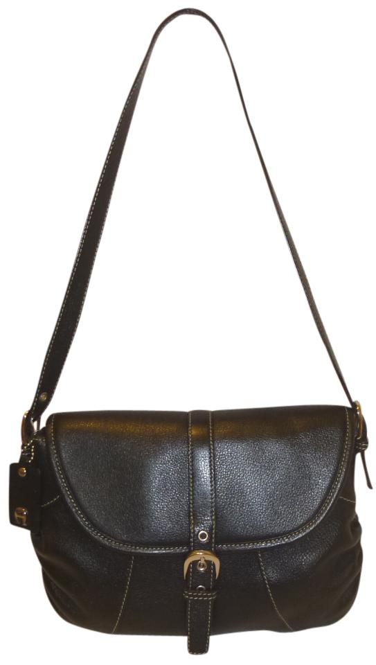 e4ea9d1f8e Etienne Aigner Black Leather Shoulder Bag - Tradesy