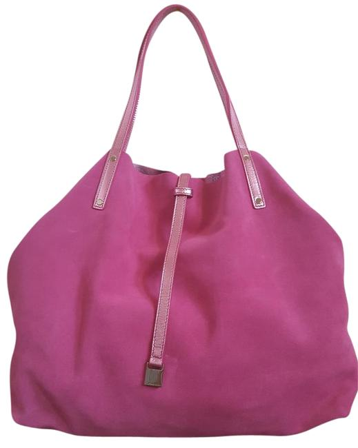 Item - Reversible Large In Raspberry Pink Leather Tote