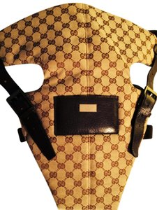 Gucci NEW Brown and Beige Diaper Bag