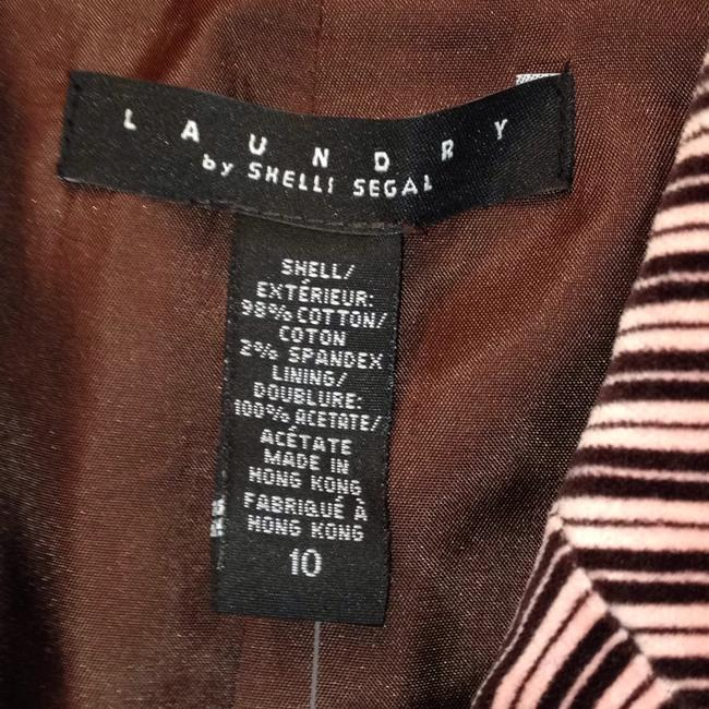 Laundry by Shelli Segal Fully Lined Ribbon Trim Pleated Pink Blazer