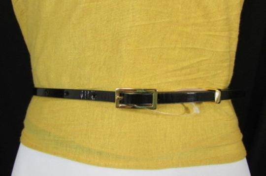 Banana Republic Banana Republic Women Thin Faux Leather Narrow Fashion Belt Purple Image 8