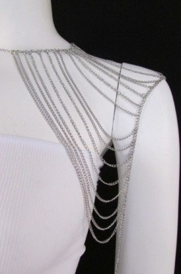 Other Women Silver Shoulder Metal Body Chain Jewelry Mjs Style Image 1
