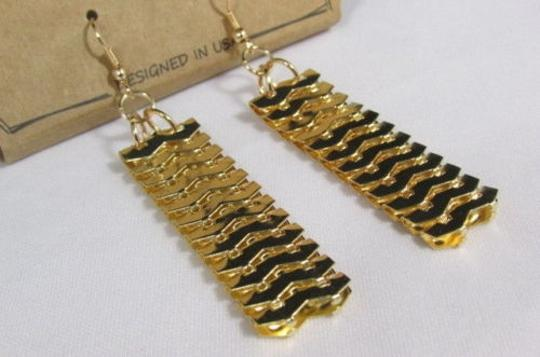 Other Women Gold Metal Chunky Links 22 Long Fashion Necklace Strands Earrings Image 4
