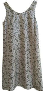 Banana Republic Silk Reversible Sleeveless Grey Dress