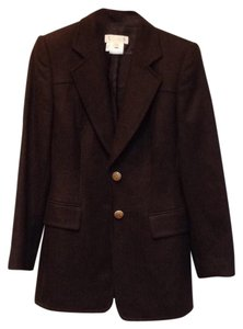 Escada Vintage Logo Brown Blazer