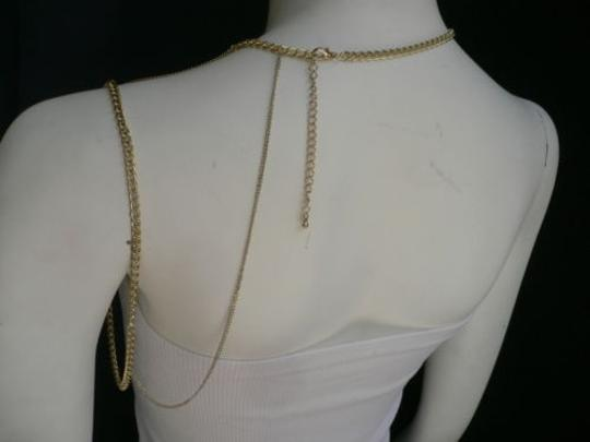 Other Women Gold Full Shoulder Rhinestones Classic Metal Chains Jewelry Image 9