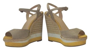 Elle Comfortable Summer Sandal Beige, yellow Wedges