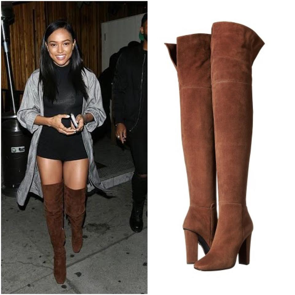 6faf6a4692350 Giuseppe Zanotti Brown New Alabama Suede Over The Knee Boots Booties Size  US 11 - Tradesy