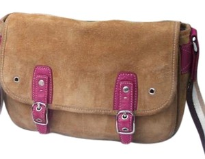 Coach Suede Field Cross Body Bag