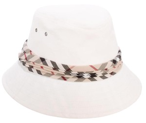 Burberry White, Multicolor Burberry Cotton Nova Check Bucket Hat
