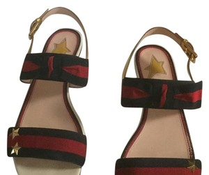 Gucci Red/blue/gold hardware Sandals