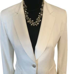 Tahari Tailor Jacket Suit Jacket White Blazer