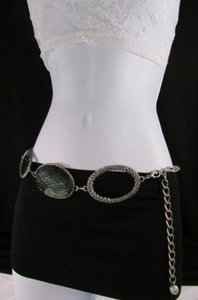 Other Women Silver Metal Chains Hip Fashion Belt Big Snake Skin 24-42