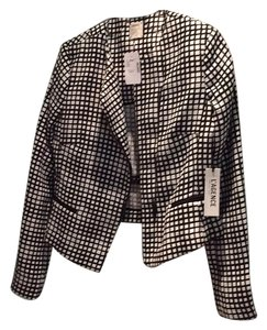 L'AGENCE Black and White Check Blazer