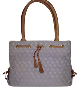 Dooney & Bourke Tassel Tote in Light Lavender/White