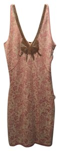 Free People Beaded Jacquard Stretchy Knit Corset Dress